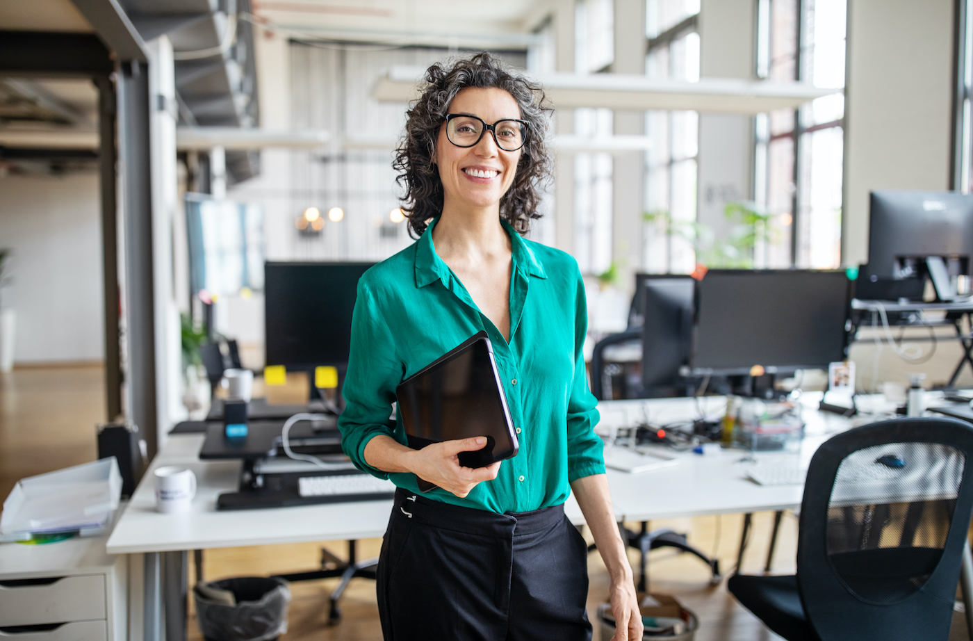 Portrait of mature businesswoman in casuals
